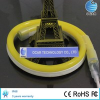 Low Energy Consumption LED Neon with Yellow Color Jacket