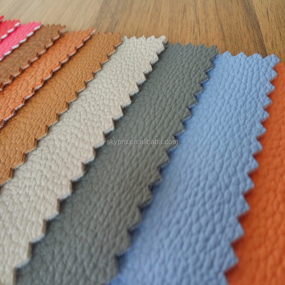 Customized colorful soft pvc artificial leather coated fabric