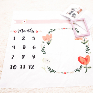 High Quality special design muslin baby milestone blanket monthly