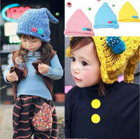 Children's fashion sharp wool baby hat with ear