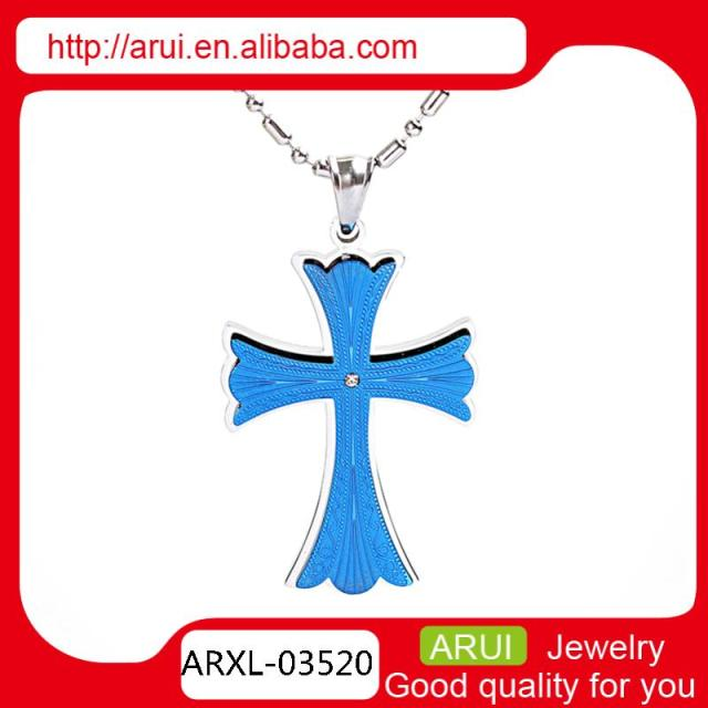 Blue necklace fashion cross jewellery pendant best friends