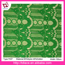 2017 Brazil fashion lace fabric for dress, best lace fabric No.7337