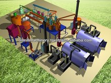 Waste Tire Oil Pyrolysis Purification Plant/Tire Recycling Oil Machine