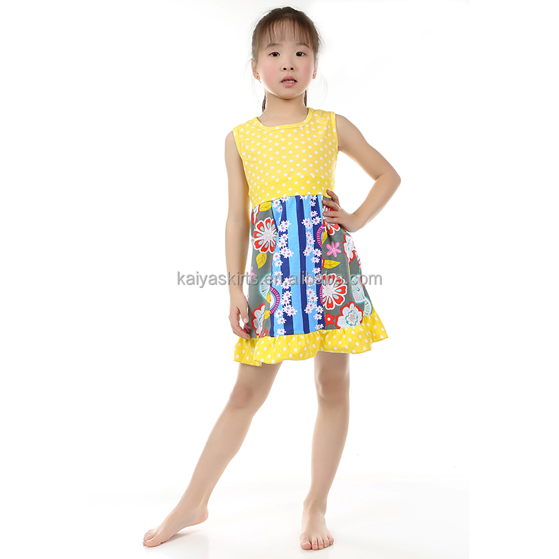 kids clothes cotton manufacturing wholesale childrens designer boutique clothing girls ruffles dress