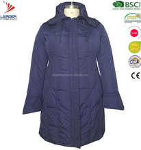 Clothings for plus size fashion women winter padded parka