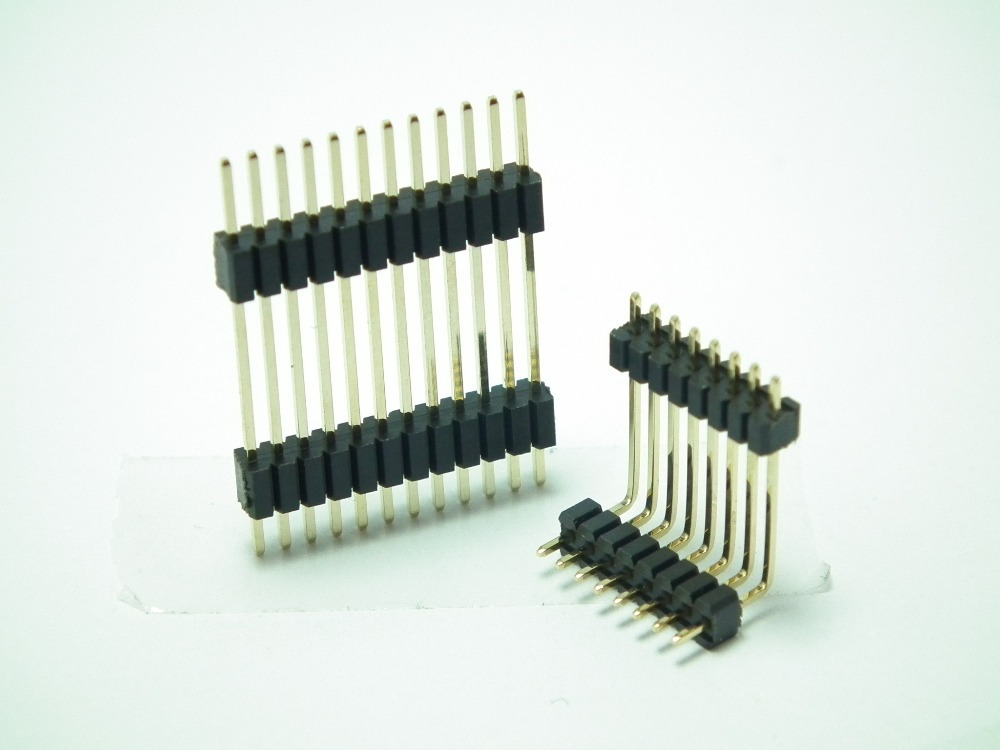 2.54mm pitch 180Degree DIP type Double Row Pin Header
