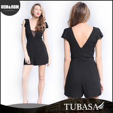 China Modern Design Lace Sexy Black Dress For Women