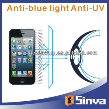 Strong Anti Blue Light Anti UV Screen Protector for iphone5S, Eye Care