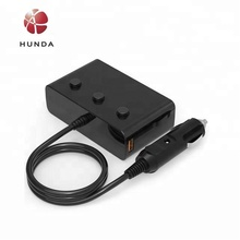 Car Accessories Power Adapter 12-24V Socket Splitter Car Cigarette Lighter socket with two qc3.0 USB car charger