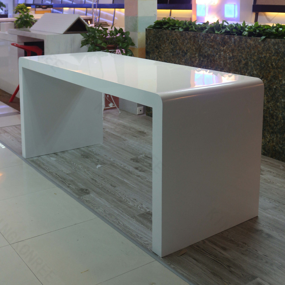 White Solid Surface Acrylic Bar Table