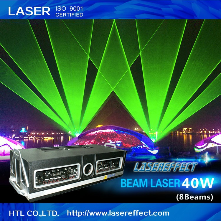 40W high-power green beam laser light for large-scale outdoor laser show and stage performance