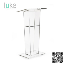 Plexiglass lectern acrylic podium for floor