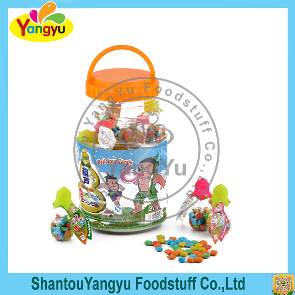 Toy jar sweety bulk cube shaped chewing gum in india