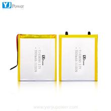 3.7V 6000mah 5500mah lithium polymer battery for table PC