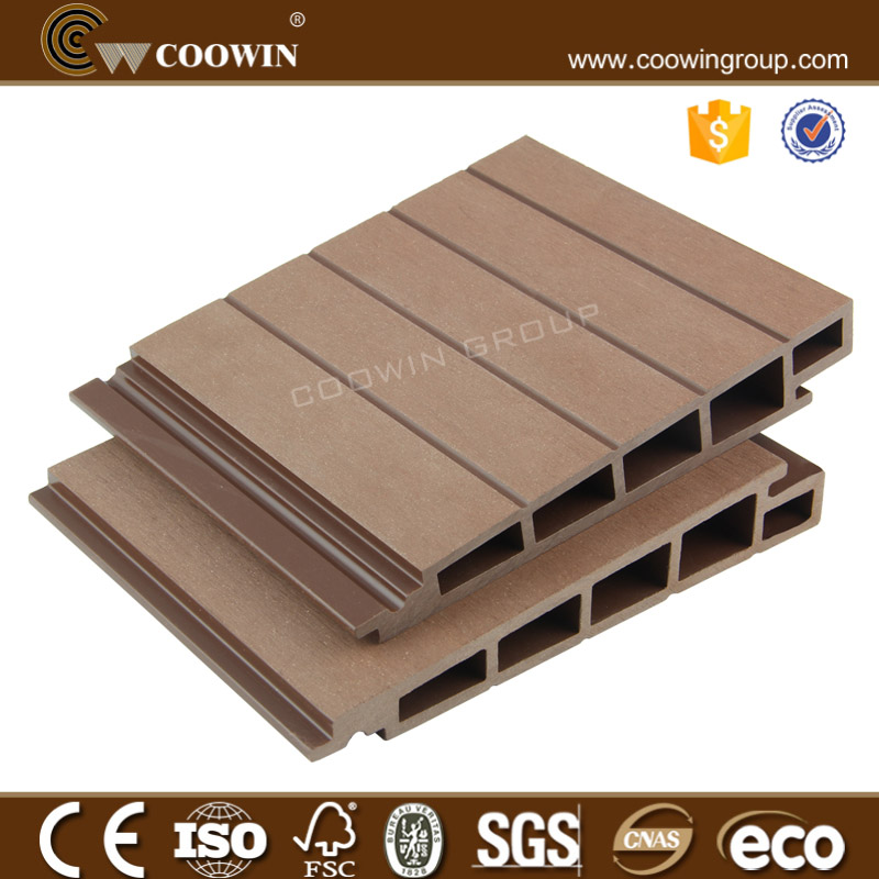 Recycle groove wood plastic composite roof panel