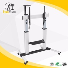 "Fit for 60""-100"" screens with adjustable height,rolling lcd plasma tv stand"