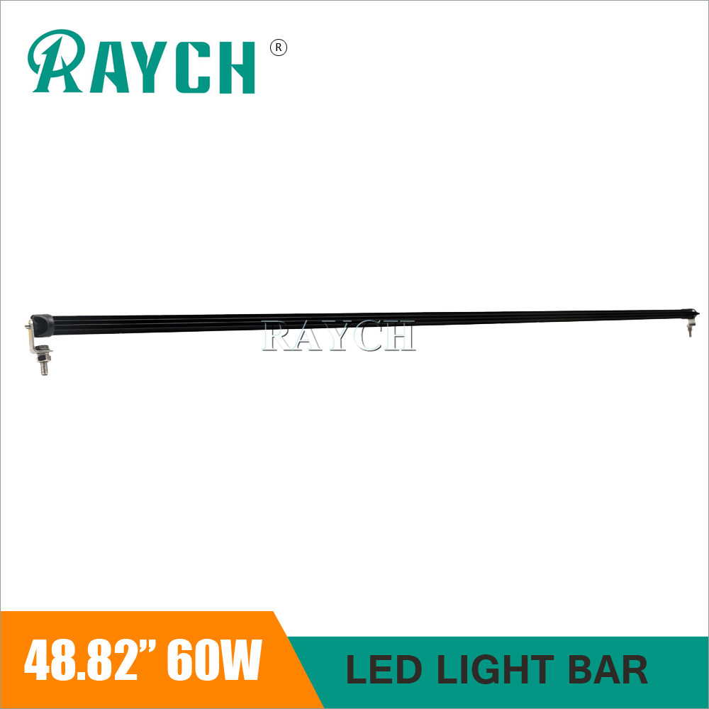 48.82 Inch Led Bar Single 6D Led Chip 60W Combo spot high low beam Slim Light Bar 12v 24v for Lada Niva Uaz Off Road 4X4