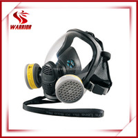 safety full face mask for chemical filter, dual cartridge filter gas mask