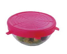 SGS reusable silicone microwave bowl cover/lid N073