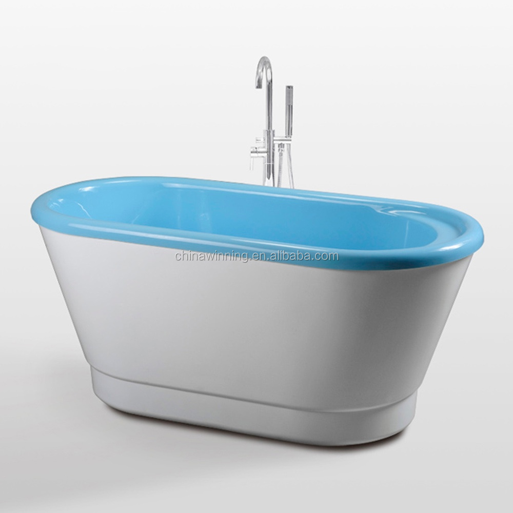 1500mm Blue bathtub Freestanding Bathtub Small Acrylic Tub Acrylic Bathtub Mold