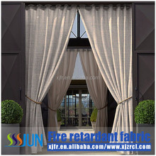 China Factory hot sale 100% polyester IFR blackout simple fabric for hotel and cafe curtain and drapery