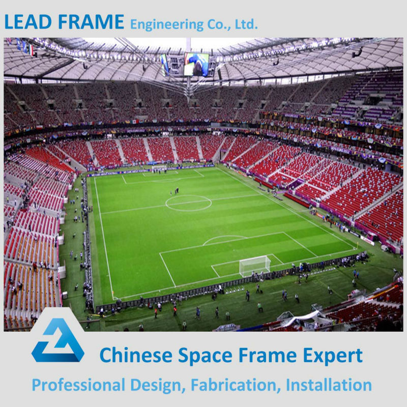 Long Span Prefabricated Light Steel Structure Stadium With Stadium Chairs