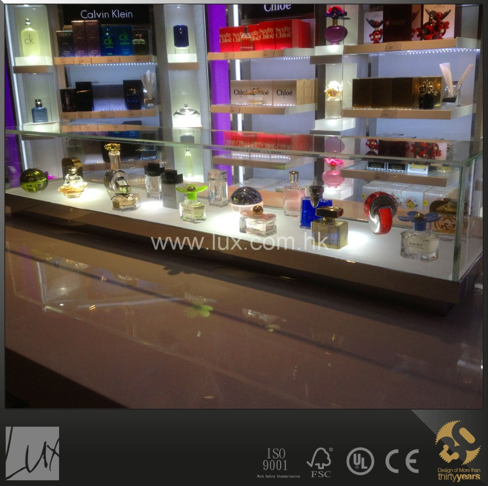 High quality cosmetic shop display counter display for perfume