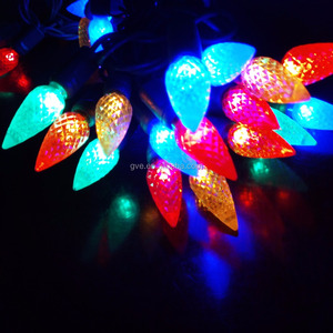 High quality Holiday Decoration light string C6 LED Christmas Lights
