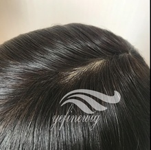 stock injected PU System Toupee Hair Replacement
