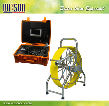 WITSON 60M Sewer Pipe Inspection Camera with 40mm camera head