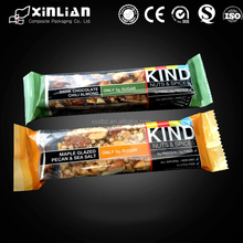 food grade pecan bar packaging bag/energy bar packaging plastic bag/sweets packaging pouch