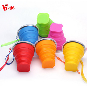 Creative Tool Outdoor Portable Multi-functional Silicone Collapsible Cup