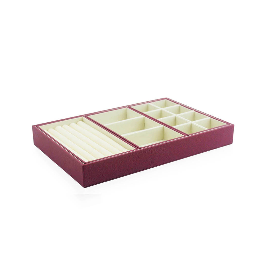 Chinese supplier decorative custom velvet jewelry tray display