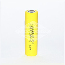 Great Cylindrical rechargeable battery 18650 battery 2500mah 3.7V Yellow battery in big stock