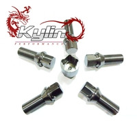 kylin racing 5pcs M14X1.5 PURE TITANIUM 28mm wheels lock lug nuts with key