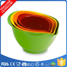 Amazon hot sale elegance 2 pcs 4 pcs hard plastic melamine mixing batter bowl set assorted multi color