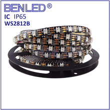 Smart WS 2812B Pixel DC 5V 12V Addressable Ic Built In Chip Full Color RGB 60LEDs Flexible LED WS2812B IC Strip With Controller
