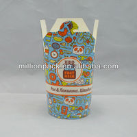 chinese 16oz disposable take out paper pasta box