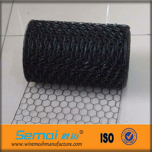 Hexagonal Wire Netting/Chicken Wire Mesh/Black Vinyl Coated Poultry Netting