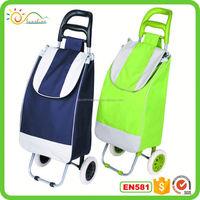 Hand luggage carts insulated black shoulder travel bag