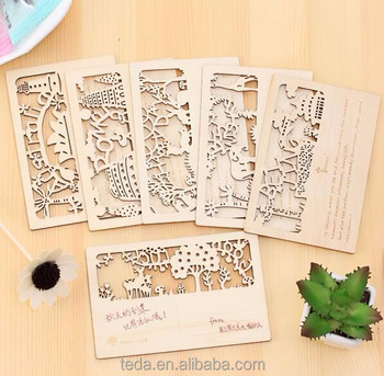 Real Wooden Postcard Greeting Card Craft