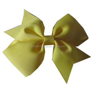 "Wholesale Mix Color Custom Size 4"" Hair Bow With Metal Clips"