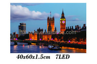 London city clock building design printing picture frame with LED
