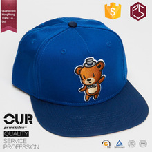 GuangZhou factory competitive price custom embroidery flat brim simple funny snapback cap
