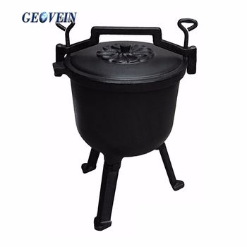 Preseasoned cast iron cauldron south africa three legged pot