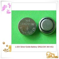 hot seller silver oxide button cell 1.55V SR621SW 364 watch batteries /Eunicell