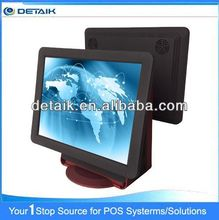 All in one Touch Screen POS 15 inch Dual Screen DTK-1533F OEM Acceptable