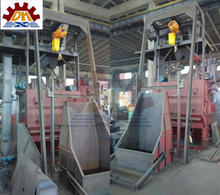 Abrasive buffing with Auto Loading automatic apron type small sand blasting equipment cleaning equipment