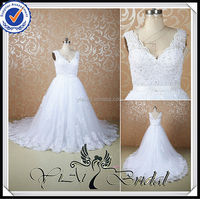 RSW521 Lace V Neck Shoulder Strap Styles Wedding Dresses Imported From China For Big Women