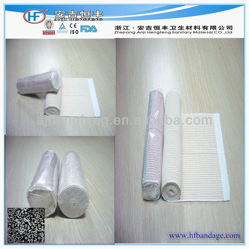 Purfled high elastic compression colored elastic bandage wrap